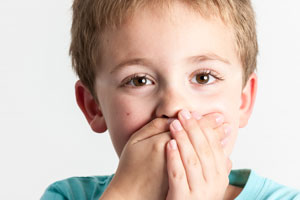 Boy with tooth emergency